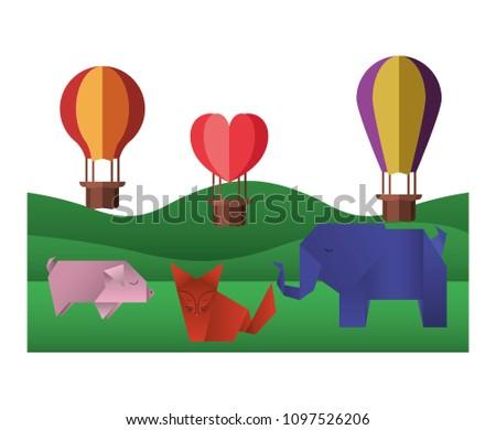 Free Vector Fox Fliegen In Heißluftballon - Kostenlose Vektor-Kunst ...