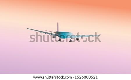 landscape with blue passenger