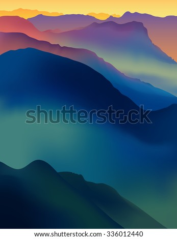 landscape with colorful