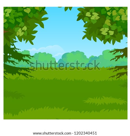 landscape with forest on the