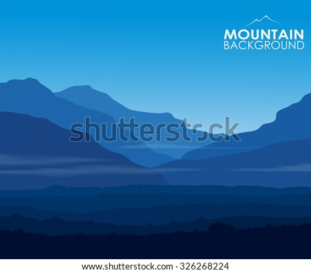 landscape with huge blue
