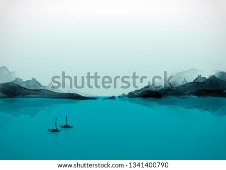 landscape with islands and