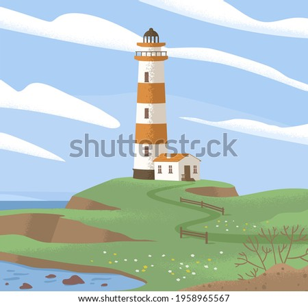 landscape with lighthouse tower