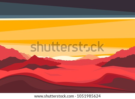 landscape with mars mountains