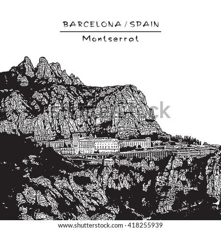 landscape with montserrat