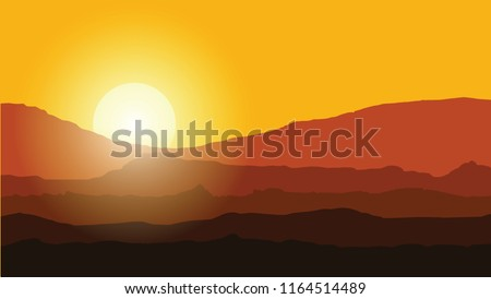 landscape with mountains at