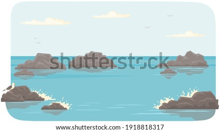 landscape with salty water on