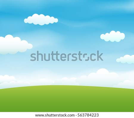 Landscape with sky and clouds