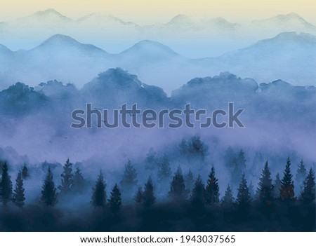 landscape with sunrise and
