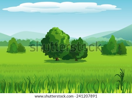 landscape with trees and
