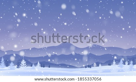 landscape with trees under snow