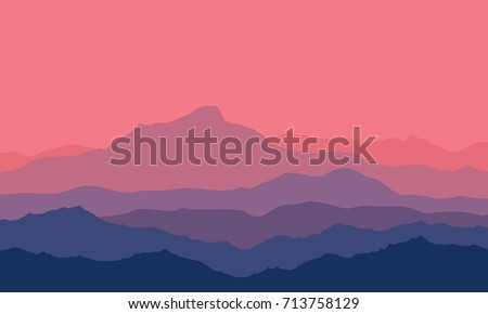landscape with violet  blue and