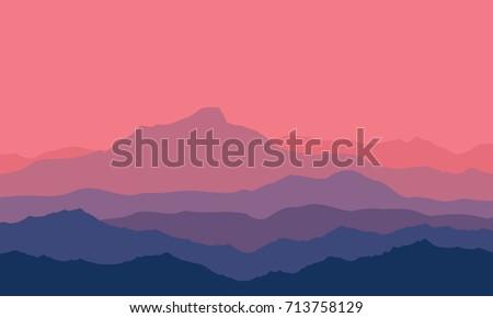 landscape with violet  blue and