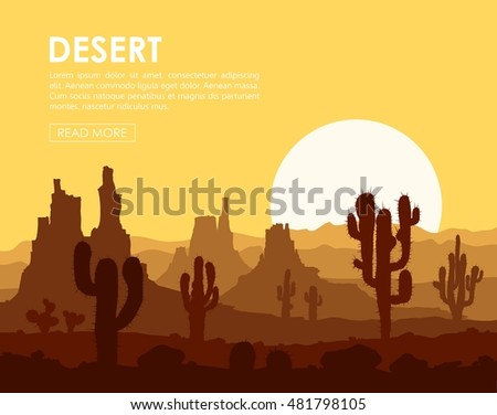 landscape with yellow sunset in