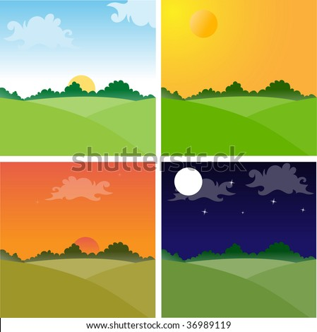 landscapes showing day cycle