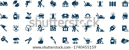 Landscaping Icons vector design black and white  Stockfoto ©