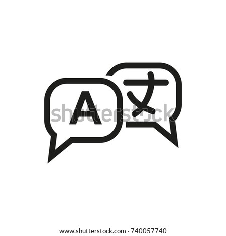 Language sign icon
