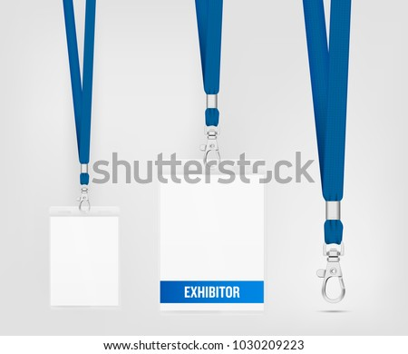 Realistic Lanyard Vector Illustrations - Download Free Vector Art ...