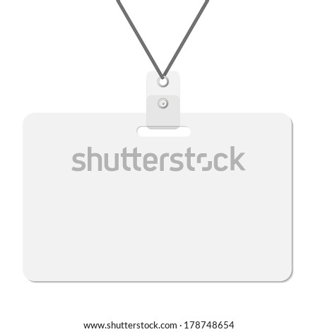 lanyard name tag holder and badge templates vector 178748654 shutterstock. Black Bedroom Furniture Sets. Home Design Ideas