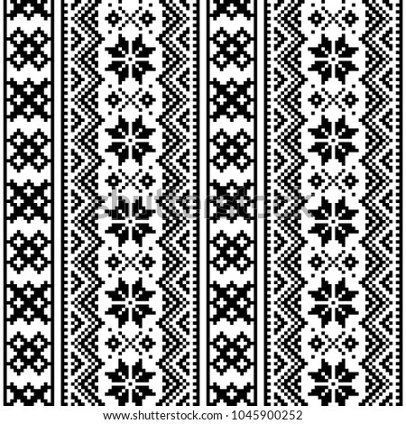 lapland seamless vector pattern