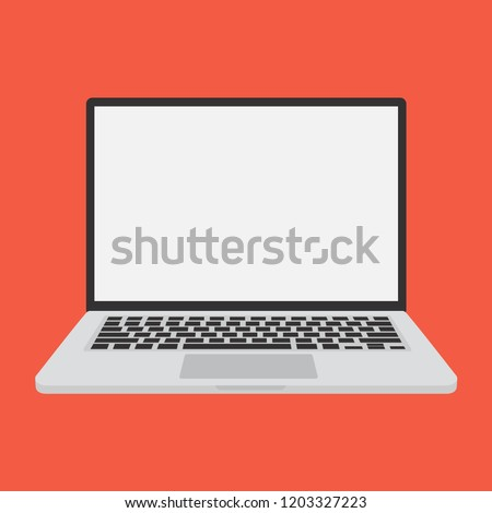 Laptop, Computer, Information Technology, PC,  Vector Illustration