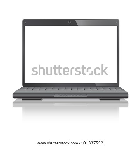 Laptop computer, isolated on white background