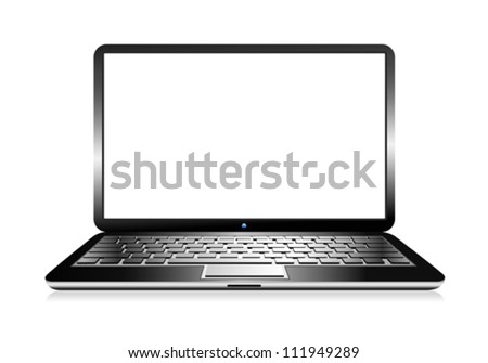 Laptop Computer PC with space for your message