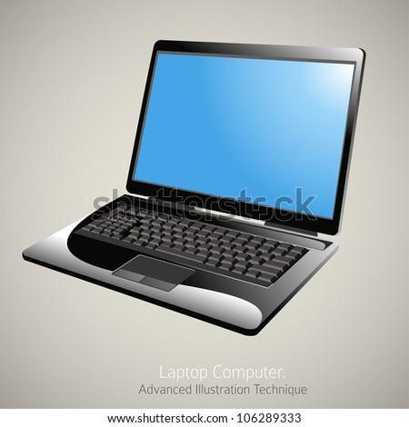 Laptop Computer Vector Illustration - stock vector
