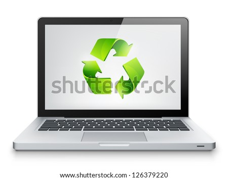 Laptop Concept Isolated on White Background. Vector EPS 10.
