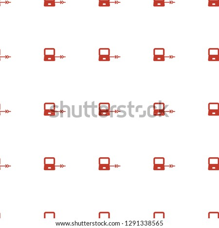 laptop connection icon pattern seamless white background. Editable filled laptop connection icon. laptop connection icon pattern for web and mobile.