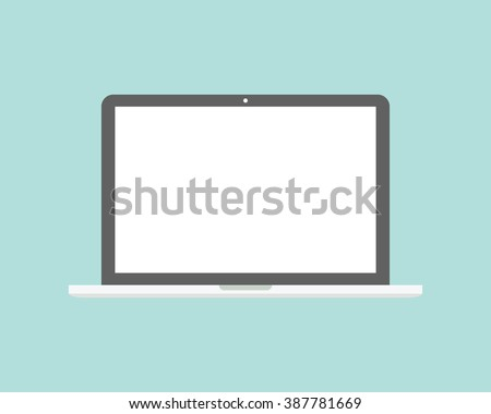 laptop flat icon. computer...