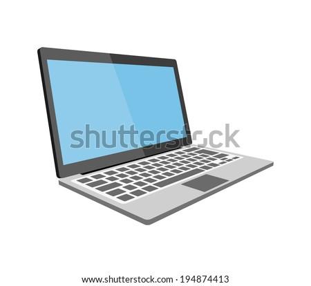 Laptop flat illustration eps10
