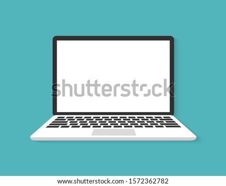 Laptop flat vector icon illustration