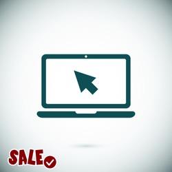 Laptop icon. One of set web icons