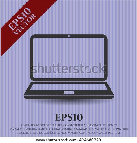 Laptop icon or symbol