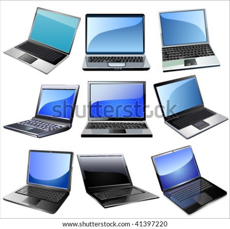 Laptop icon set