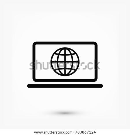 laptop icon  stock vector