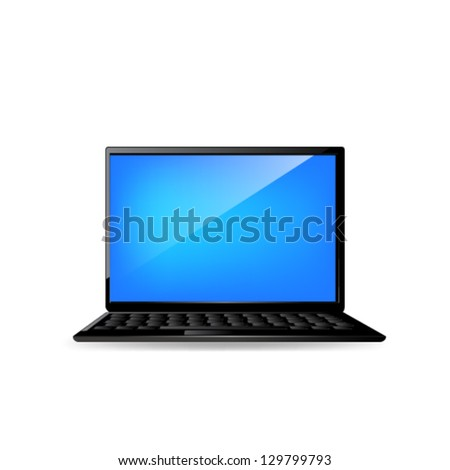 Laptop icon. Vector