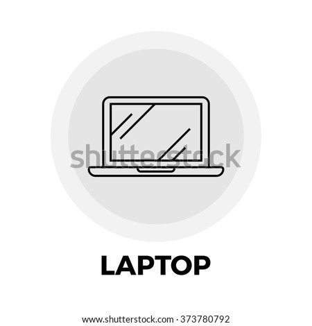 Laptop icon vector. Flat icon isolated on the white background. Vector illustration.