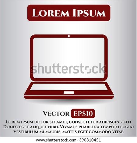 Laptop icon vector illustration