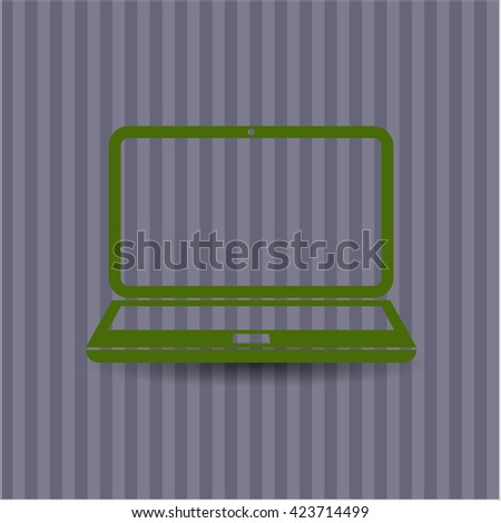 laptop icon vector symbol flat eps jpg app web concept website