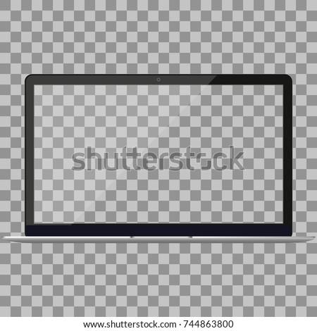 laptop in macbook air style...