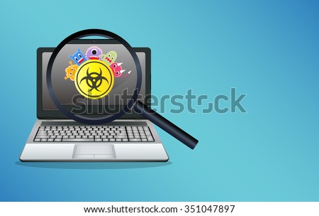 laptop infected virus computer