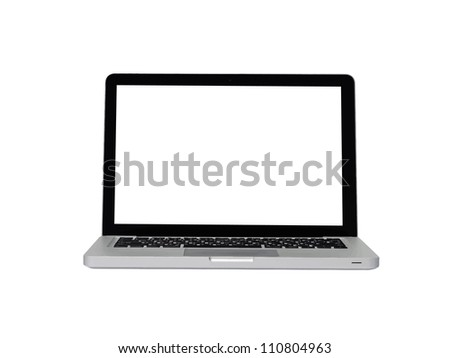 Laptop isolated on white background, Vector illustration - stock vector