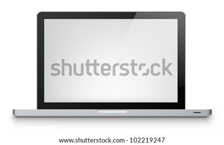 Laptop Isolated on White Background. Vector Illustration EPS 10.