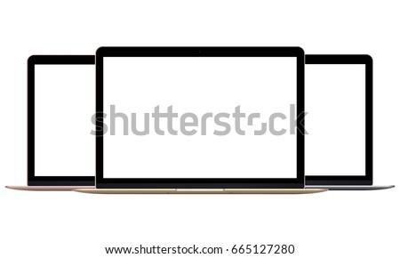 laptop macbook isolated on