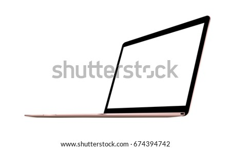 laptop macbook pink mockup with