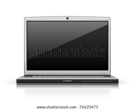 laptop modern computer vector illustration isolated on white background
