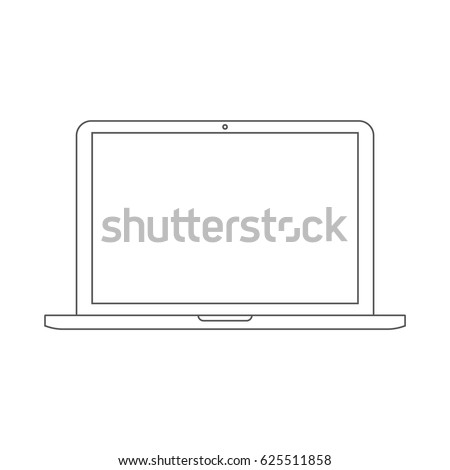 laptop outline vector icon eps10. macbook outline