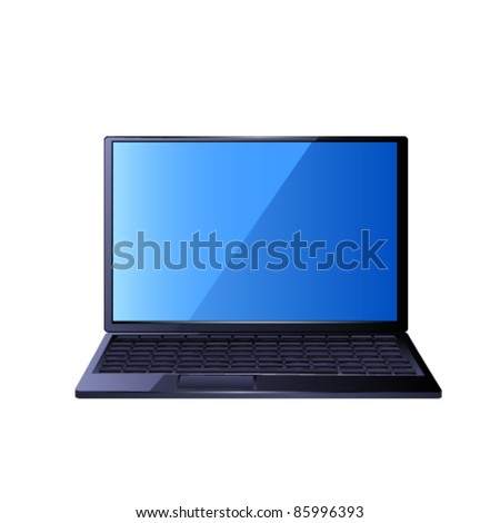 Laptop. Vector